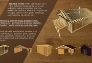 Medienos gaminiai: PAVĖSINĖS, STOGINĖS, TERASOS, ŪKINIAI PASTATAI, GYVENAMIEJI NAMAI