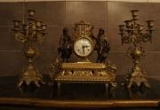Senovinis laikrodis su zvakidemis