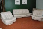 Svetainės odiniai baldai