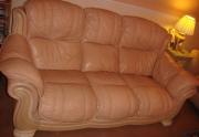 Naudota odine sofa & 2 x foteliai