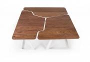 Laužytų formų kavos stalelis