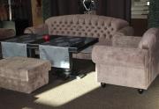 Restorano baldai (Sofa,  fotelis ir pufas)