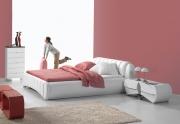 Apvalių formų lova Laurent