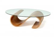 Kavos staliukas Swirl su ovaliu stiklu