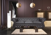 Minkšta trivietė česterine sofa