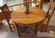 Apvalus ąžuolinis stalas