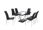 Valgomojo stalas Lela ir 4 kėdės