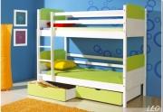Vaikiška dviaukštė lova LEO