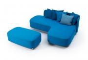 Sofa su pufu L