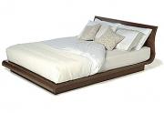 Modernaus dizaino lova iš natūralaus medžio Wave