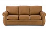 Trivietė minkšta odinė sofa Divan