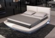 Apvali lova su LED apšvietimų