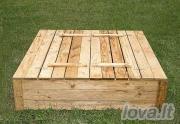 Smėlio dėžė 120x120 (užverčiama)