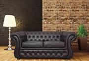 Minkšta dvivietė česterine sofa