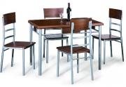 Valgomojo stalas PLAY su 4 kėdėmis