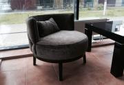 Apvalus klasikinis fotelis