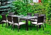 Lauko valgomojo baldų komplektas Ombroso