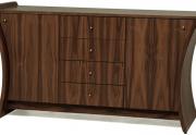 Dviejų durų komoda su stalčiais