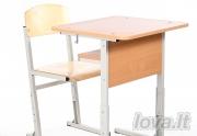 Mokyklinis suolas su lentynėle