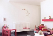 Vaiko kambario baldų interjeras